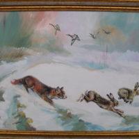 Fuchs, Hasen und Enten im Winter