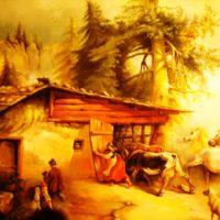 Reproduktion – Gauermann – Heimkehr vor dem Gewitter