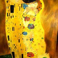 Reproduktion: Klimt – Der Kuss