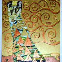 Reproduktion: Klimt – Die Erwartung, Vorlage zum Stocletfries