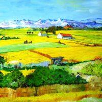 """Reproduktion: Van Gogh – Die Ebene """"La Crau"""""""